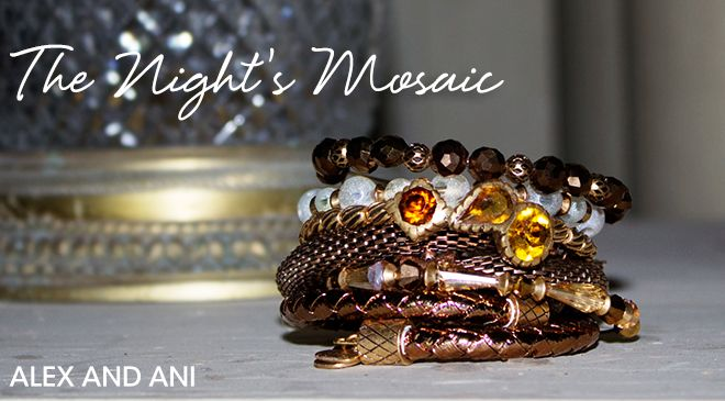 alex & ani night mosaic collection available now at Femme Fatale Boutique.  These are limited edition so don't miss out!