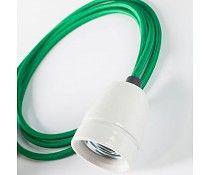 Het Lichtlab Hanglamp groen Strijkijzersnoer 2mtr