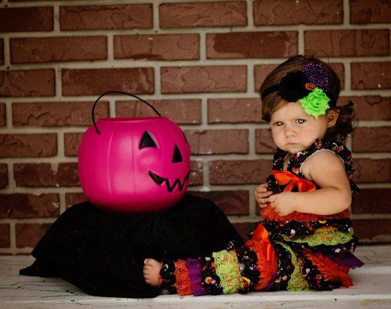 3 Pc. HALLOWEEN PETTI ROMPER SetHalloween by BetterThanBows, $39.95