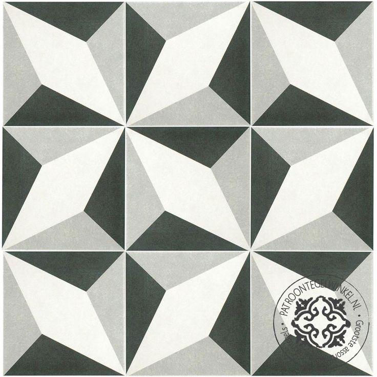 Keramische Patroontegel Twenties Diamond | www.patroontegelwinkel.nl