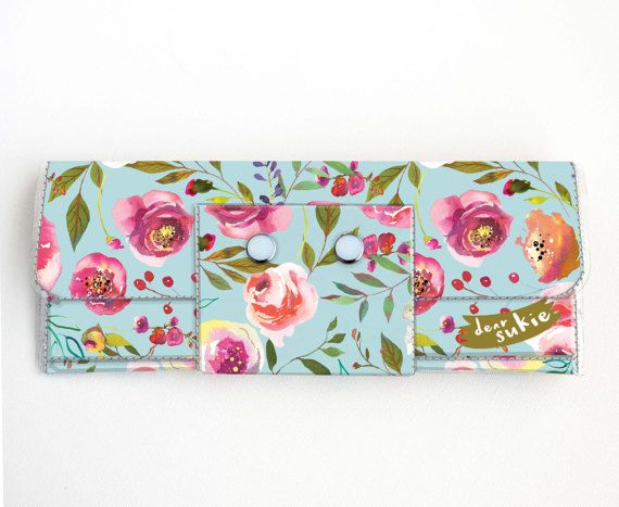 Check out this item in my Etsy shop https://www.etsy.com/ca/listing/499424340/vinyl-long-wallet-pastel-floral-blue