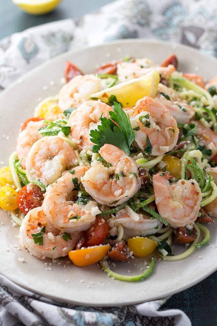 Zucchini Noodle Shrimp Scampi is so good you won't miss the pasta! It's so low in carbs, it's the perfect healthy ketogenic meal, just bursting with flavor.
