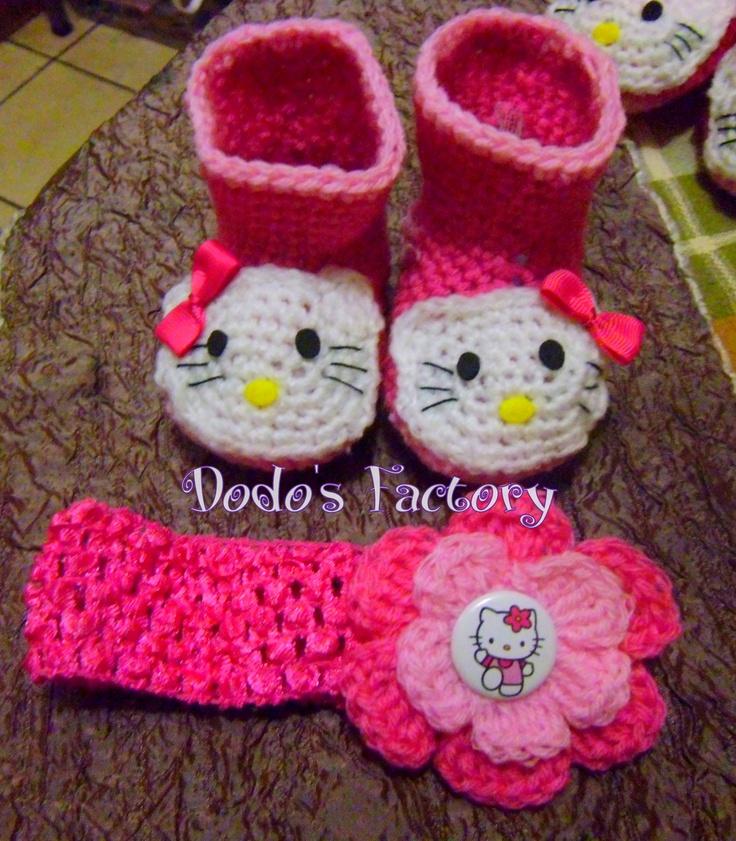 Hello Kitty Baby Shoe Crochet Pattern