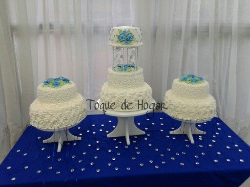 Wedding cake with whipped cream