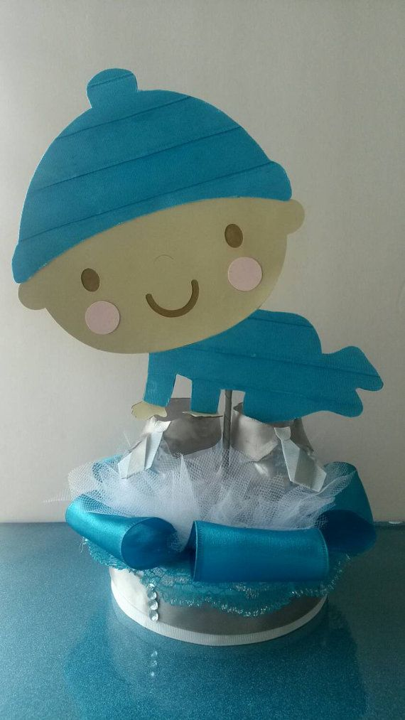 Little Man Baby Shower Centerpiece First Birthday By FourDOLLYSboutique