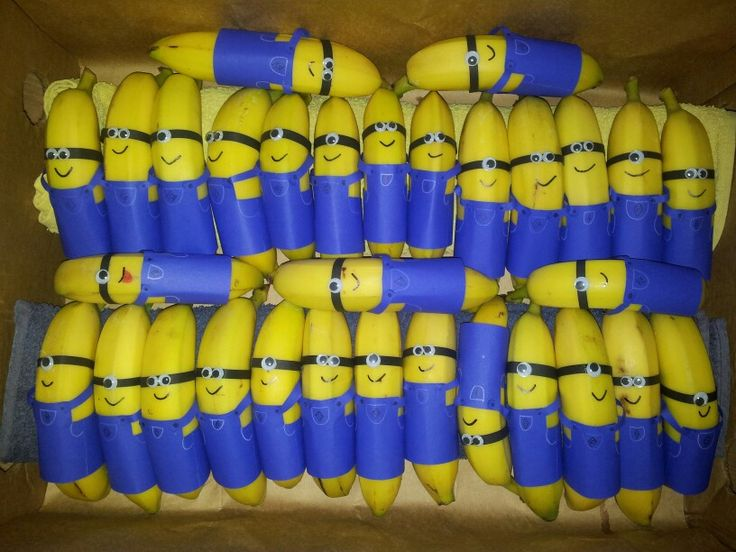 Minion Bananas - non-junk food Halloween or party treat