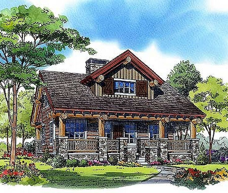 Plan Lsg11541kn 2 Bedroom 1 Bath Log Home Plan Log Cabin