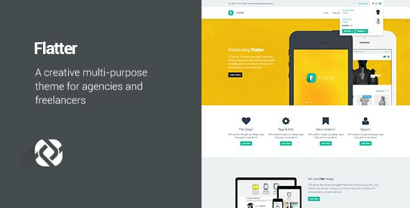 Flatter - Multi-Purpose Theme for Your Creativity  #themeforest