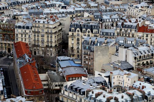 View from one of the highest peak in Paris, France.  Sacre Cour in Monmontre.  So beautiful!