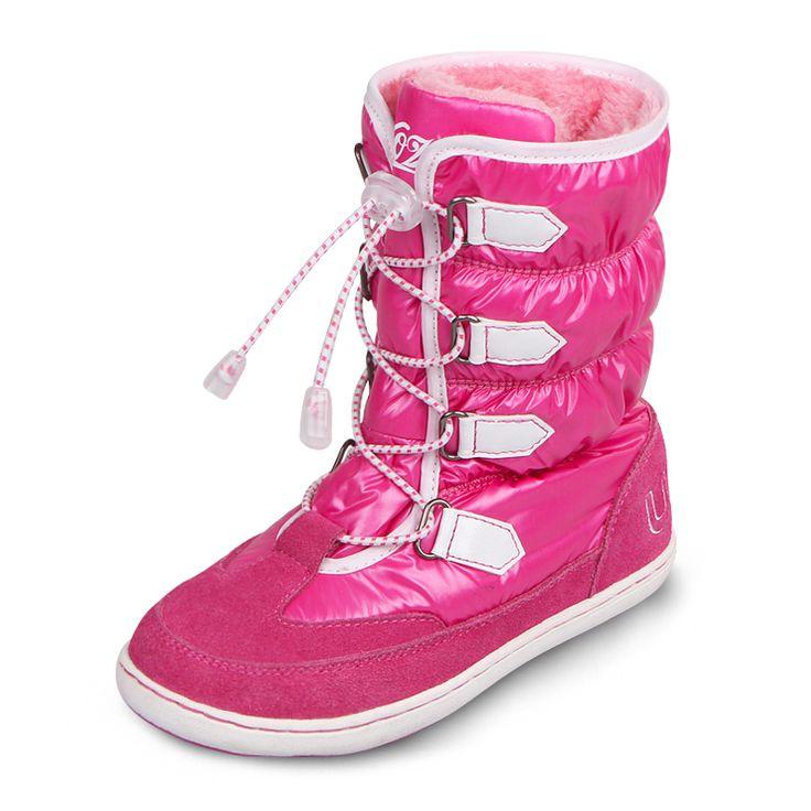 Uovo 2015 зимние девушки сапоги, Детскую обувь для девочек, Дети сапоги, Переносной резиновая подошва девушки зимние ботинки, Chaussure Enfant