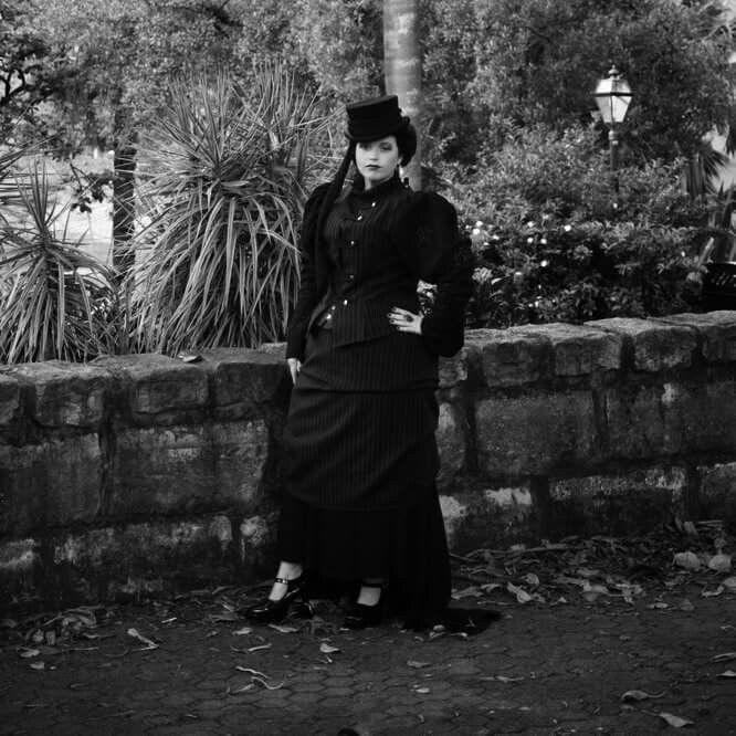 Modelling for harpi, love rhjs beautiful victorian gothic outfit. Model: Jocelyn lothian Photographer: silkshot photography #victorian #victoriangothic #gothic #tophat #jocelynlothian #modelling.
