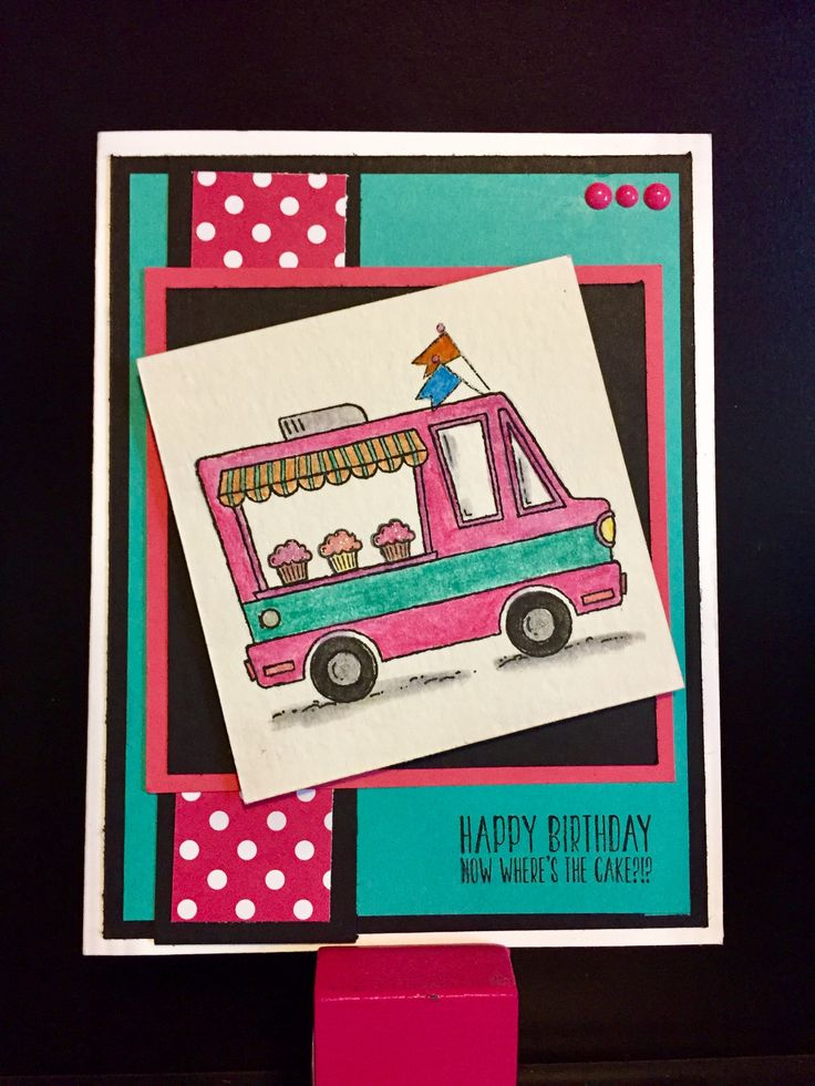"""Created this card using """"Tasty Trucks"""" which is a Stampin' Up! Sale-a-bration item. #stampinup #saleabration2017 #tastytrucks"""