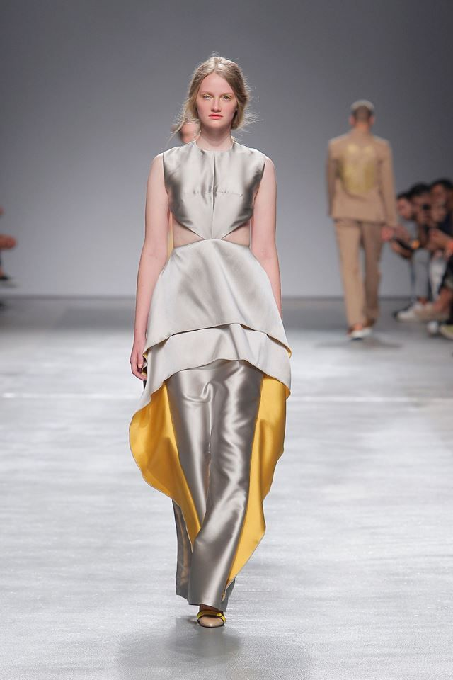 Silver & Yellow Long Dress #silver #yellow #long #dress #woman #spring #summer #eagle #eye #luiscarvalho