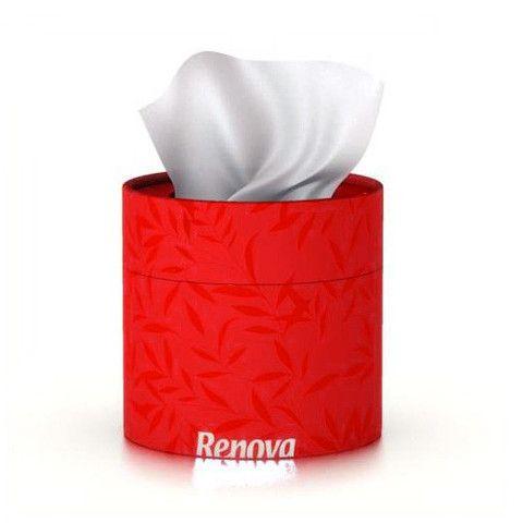 servetele faciale albe in cutie rosie