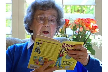 Beverly Cleary reading from Ramona Quimby, Age 8. So many readers trace their love of reading back to this amazing author.