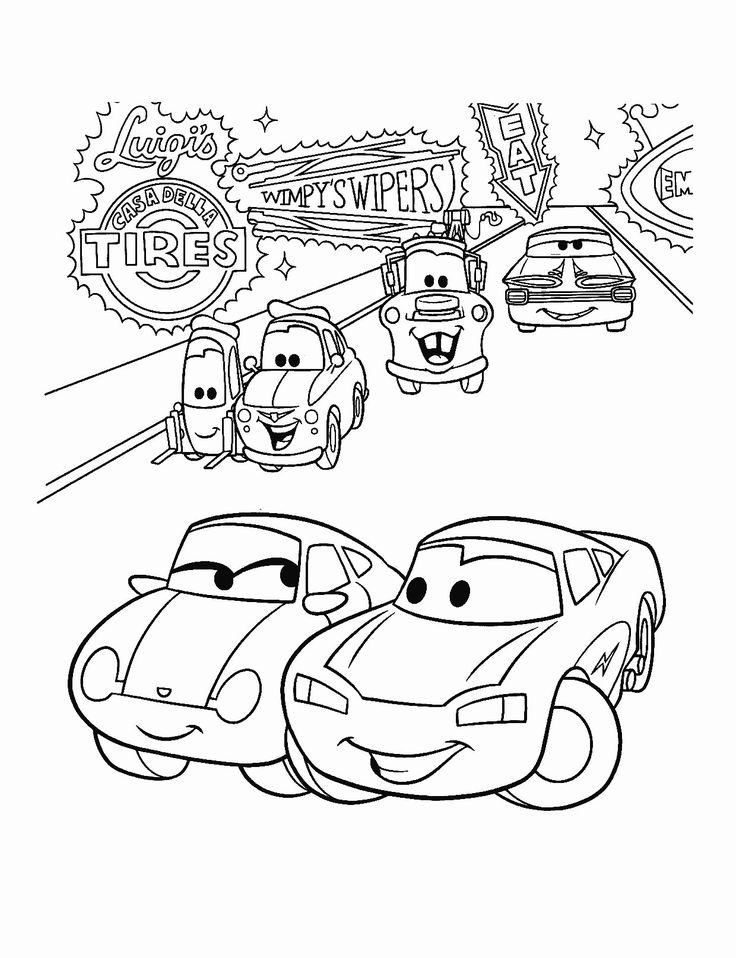 Lightning Mcqueen Printable Coloring Pages в 2020 г