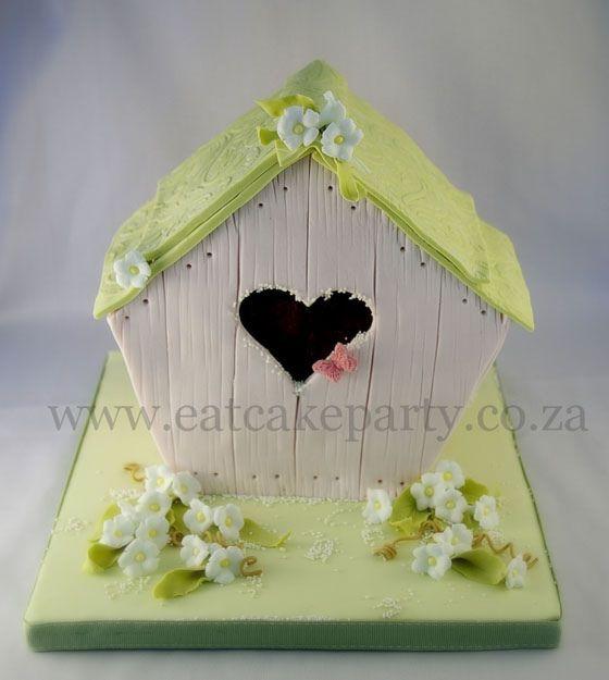 Birdhouse Christening cake by ♥Dot Klerck....♥, via Flickr