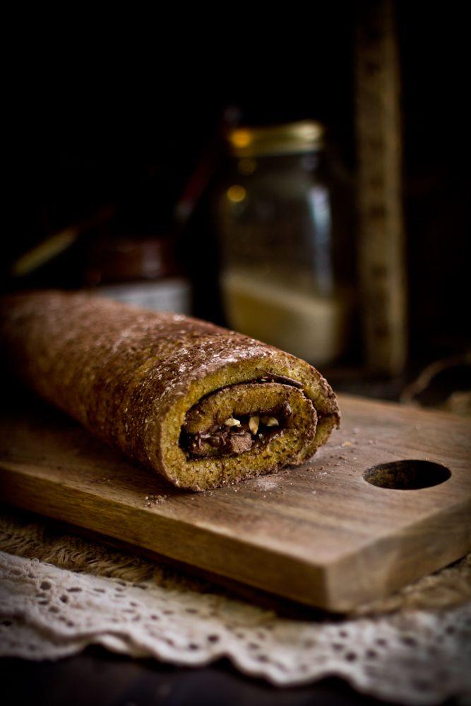Roasted Hazelnut & Nutella Roulade