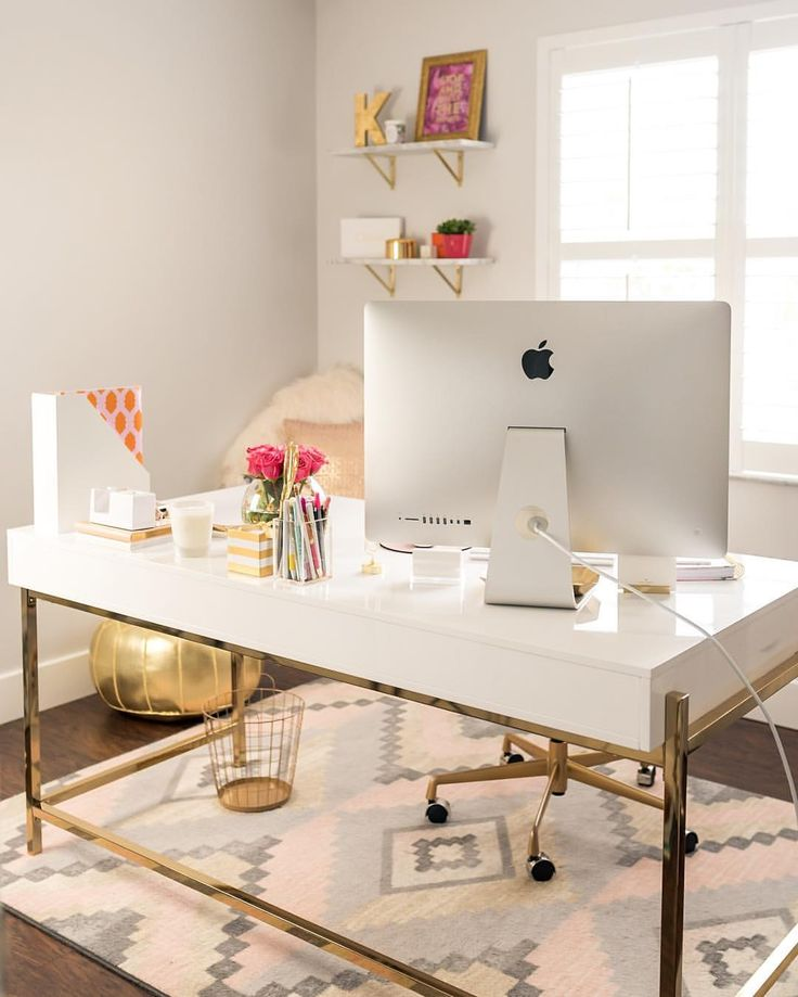 White and gold desk                                                                                                                                                                                 More
