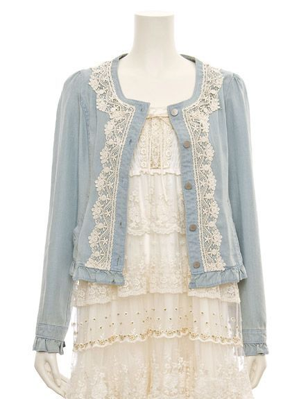 cotton and lace dress and sweater.: