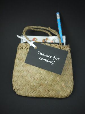 Kiwi favor bags