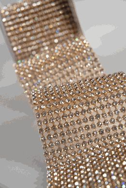 "Diamond Ribbon with Stones  2.75"" width  Gold Setting 41""   $64"