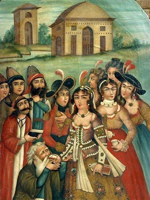 Good times in Persia :) (Qajar-era painting from a museum in Shiraz)