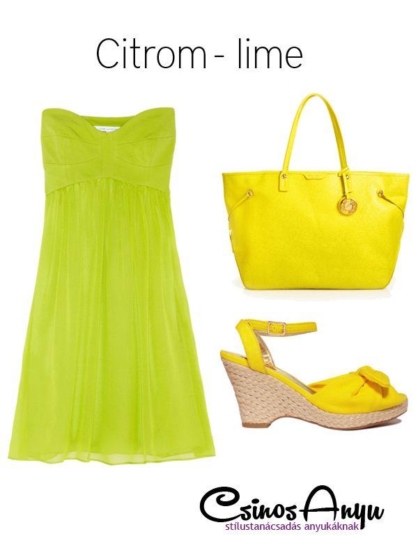 Nyári színek: citrom - lime  http://csinosanyu.hu