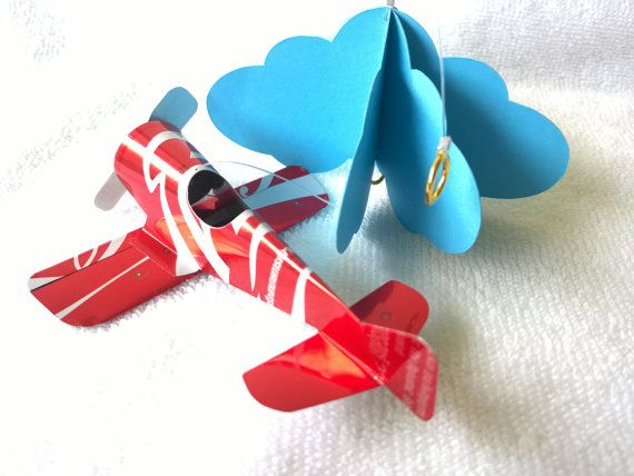 Mini mobile airplane soda can handcrafted.#1