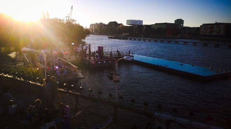 Sunset, Badensee am Spree, Berlin, Germany Swimming Pool