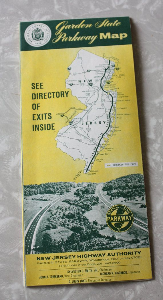 Vintage NJ Garden State Parkway Map 1960s by FelicesFinds on Etsy