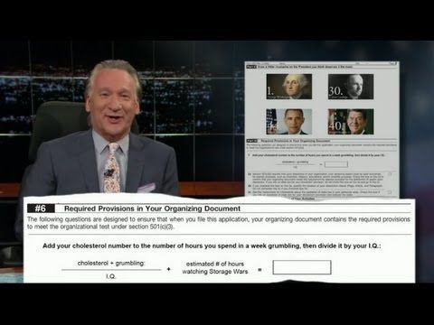 BILL MAHER MOCKS TEA PARTY VICTIMS WITH FAKE IRS QUESTIONS: STATE THE 'APPROXIMATE LOCATION OF YOUR TRAILER PARK'