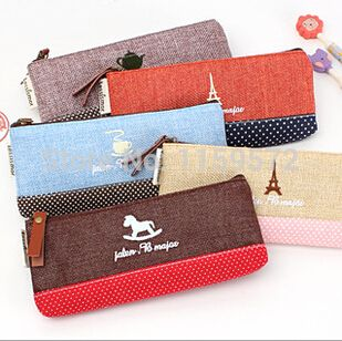 Korea design wholesale price casual and lovely pencil bag for school, fashion diablement fort material, free shipping
