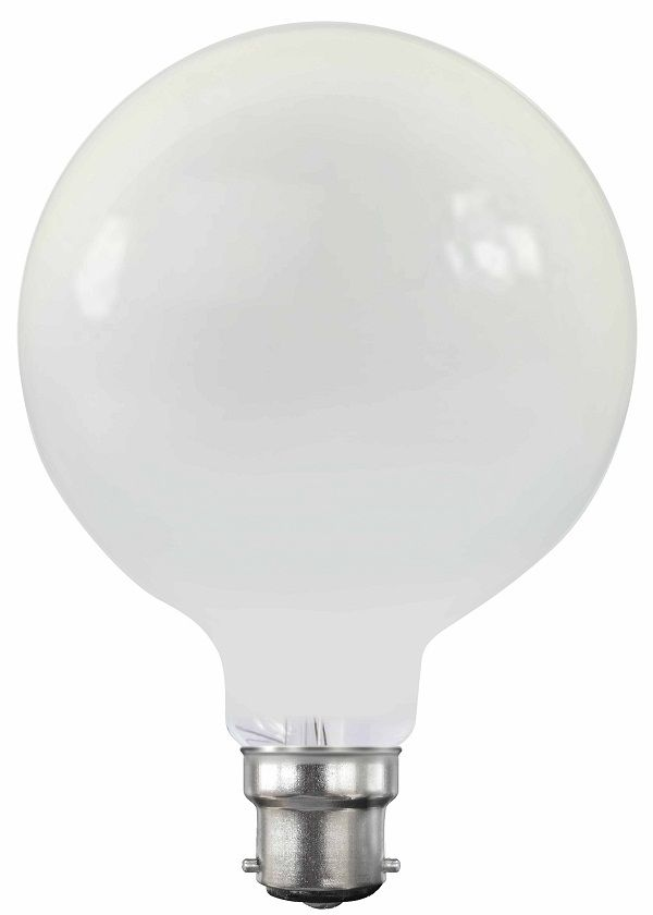With its distinctive opal finish, the 6 Watt Opal G95 Spherical LED Filament Globe (B22/Bayonet Cap Configuration) 2200K is an LED lighting device that generates a powerful, yet warm light, making it an adequate choice for decorative lighting and even regular, general-purpose lighting.