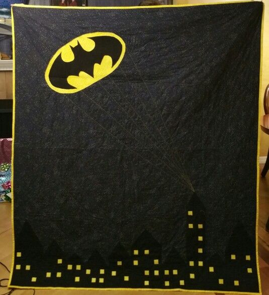 The call. Batman quilt i made for my niece