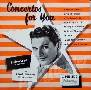 LIBERACE AT THE PIANO PAUL WESTON AND HIS ORCHESTRA CONCERTOS FOR YOU  BBL 7030