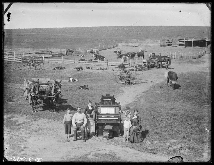 The David Hilton Family near Weissert, Nebraska 1887 Mrs. F. E. Howland…