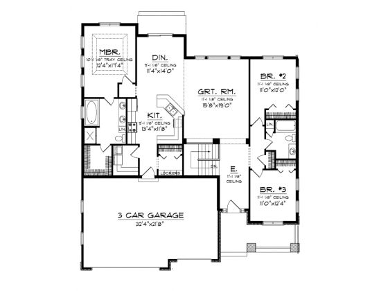 Level 1 1900 Sq Ft Pinterest Ranch House Plans