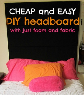 #DIY foam headboard... super easy, and you can stick pictures, good morning/to do notes on it!