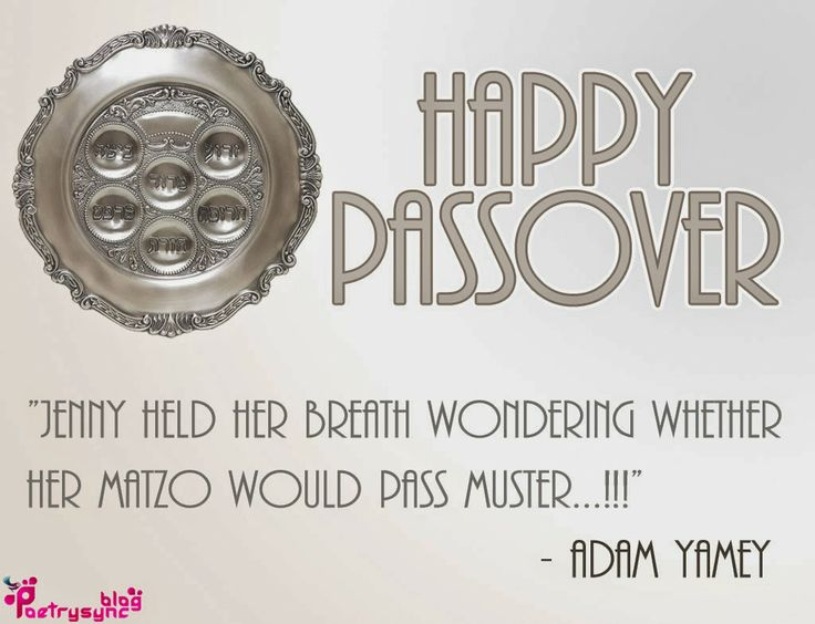 Happy Passover Wishes and Greetings Quote Image Jenny held her breath wondering By PoetrysyncHappy Passover Wishes and Greetings Quote Image...