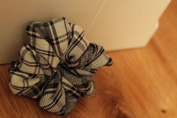 Rustic Mint Checkered Scrunchie by Rusticmintx on Etsy