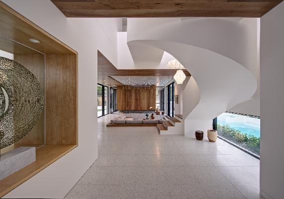 The Brighton Escape by Georgia Ezra, Australia  #terrazzo  #naturalstone #quartz #interiordesign #architecture