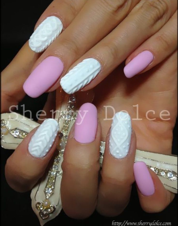 3D nail art you design and then paint over with gel!