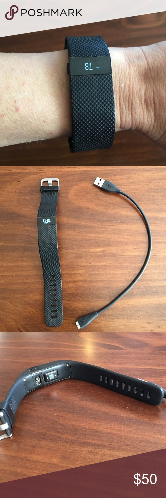 Fitbit Charge HR Black - Small Black Fitbit Charge HR Small. Works great. I just use my Apple Watch now. Date and time are not correct due to not syncing in awhile. Reasonable offers welcome. Fitbit Accessories