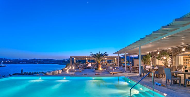 Colonial Pool @ Santa Marina Resort & Villas, a Luxury Collection Resort in Mykonos, Greece.
