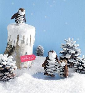 Best Penguin Crafts Ideas....a cute winter mantle scene