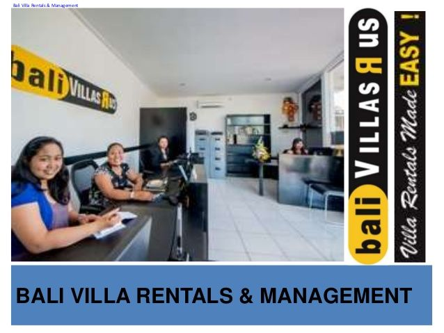 Presentation bvr by Bali Villas R us Management via slideshare