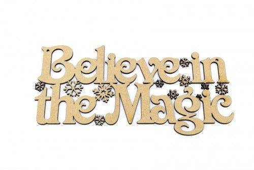 Believe in the magic 3mm mdf Plaque http://www.lornajayne.co.uk/