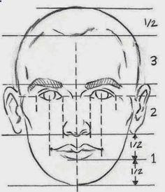 Pencil Portrait Mastery - Resultado de imagen para como medir las proporciones para dibujar un rostro de perfil - Discover The Secrets Of Drawing Realistic Pencil Portraits