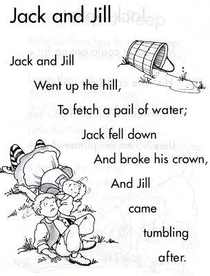 Jack And Jill Nursery Rhyme Things I Grew Up Pinterest Rhymes